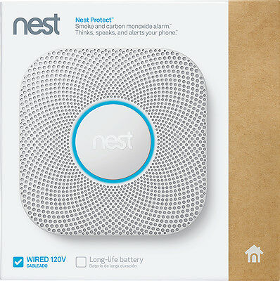 *Brand New* *Sealed* Nest Protect 2nd Gen Wired Carbon Monoxide Alarm S3003LWES