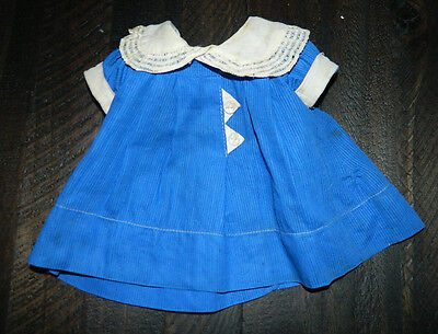 "Antique Original 1930's IDEAL Shirley Temple 18"" Doll Blue Triangle Dress Cute!"