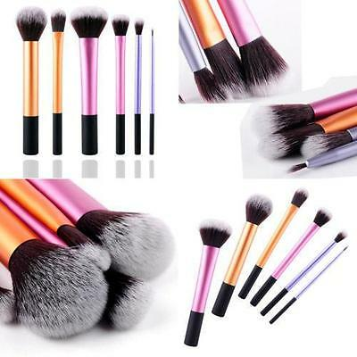 NEW 6pcs Cosmetic Makeup Brushes Set Core Collection Starter Kit Brush Tool - DD