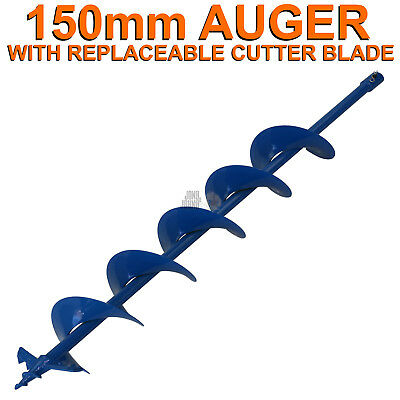150mm x 100cm Earth Auger Fence Borer Drill Bit For Perla Barb Post Hole Digger