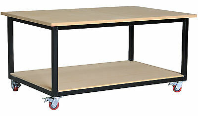Mobile steel work bench 1800 x 1200mm, direct from our Melbourne factory