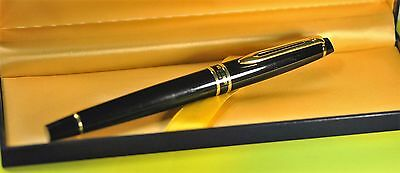 """""""Waterman""""  Expert Collection Laque Black&GT French Rollerball pen w/Orig.box"""