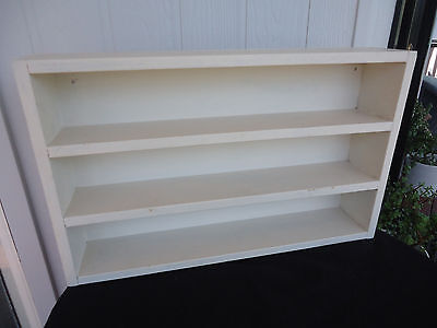 vintage solid timber wall shelf unit display