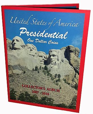 Lot of 50 US PRESIDENTIAL $1 ONE DOLLAR COINS COLLECTOR'S ALBUM, BOOK 2007-2016
