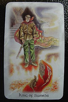 King of Swords The Celtic Dragon Tarot Single Replacement Card Excellent