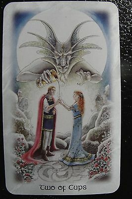 Two of Cups The Celtic Dragon Tarot Single Replacement Card Excellent Condition