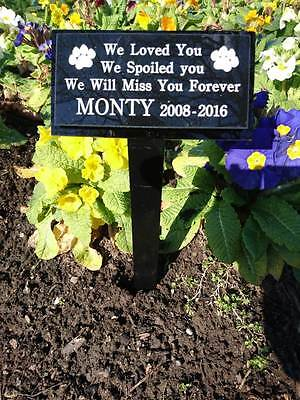 Engraved Pet Memorial On Stake Personalised With Your Inscription