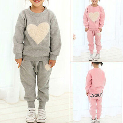 Toddler Girl Kid Sweartshirt Clothes Tracksuit Top+Jogger Pant Outfits Suit Sets