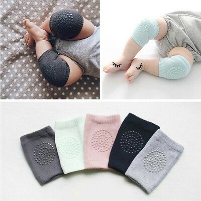5 Colors Summer Baby Knee Pads Soft Baby Leg Warmers Anti Slip Crawl Necessary