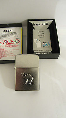 Brand New Zippo Camel Embossed Logo, Street Chrome Finish- Very Limited Edition