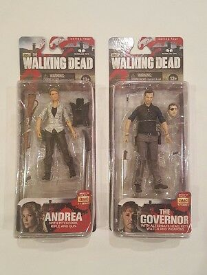 AMC The Walking Dead The Governor Series 4 McFarlane Figure And Andrea Volume 2