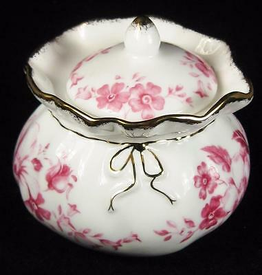 Royal Albert 'Paradise' Fuchsia Pink Flowers Bone China Trinket Box with Lid