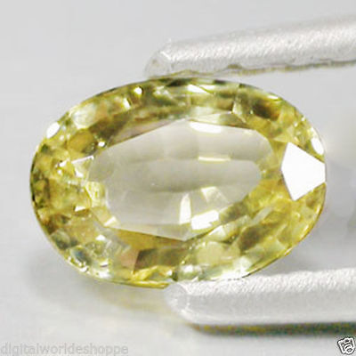 0.91Cts Collector's ULTIMATE Quality Gem - Natural Green Yellow CHRYSOBERYL LK9