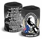 Collingwood Magpies AFL History Can Cooler Stubby Holder * End 2016 Season