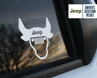 Jeep is in my Blood Wrangler Bull Skull window sticker decals graphic
