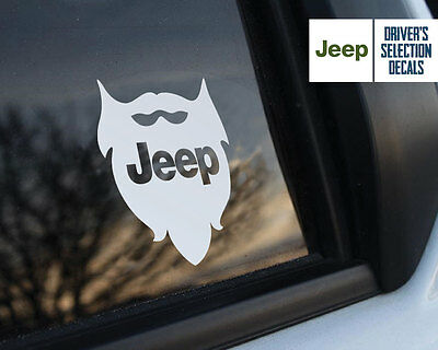 Jeep is in my Blood Wrangler Beard window sticker decals graphic