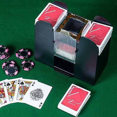 Casino 4-Deck Automatic Card Shuffler Shuffling Machine Playing Cards Gift New