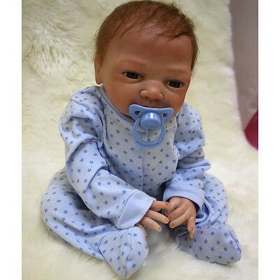 Lifelike Realistic Reborn Baby Boy Doll Baby Toy FULL BODY Early Education Gift