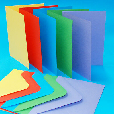 Blank greeting cards & envelopes - A6/C6 size bright colours x 50