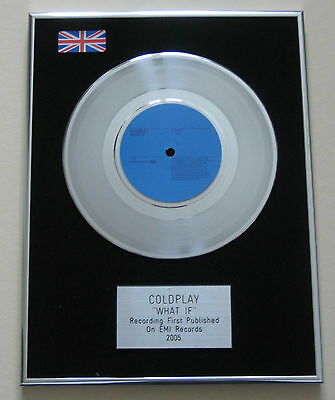 """COLDPLAY What If PLATINUM 7"""" Single DISC Presentation"""