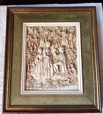 RARE VINTAGE ~ MARCUS DESIGNS  WALL PLAQUE Medieval themed