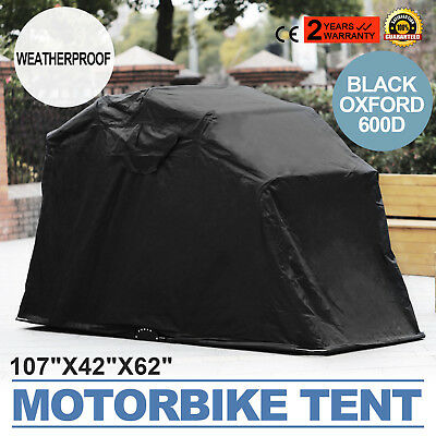 Heavy Duty Motorcycle Shelter Shed Cover Storage Garage Tent Hot