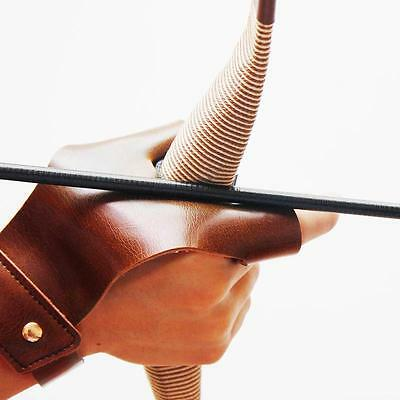 Archery Hunting 2 Finger Leather Protect Right Hand Glove Guard Bow Shooting