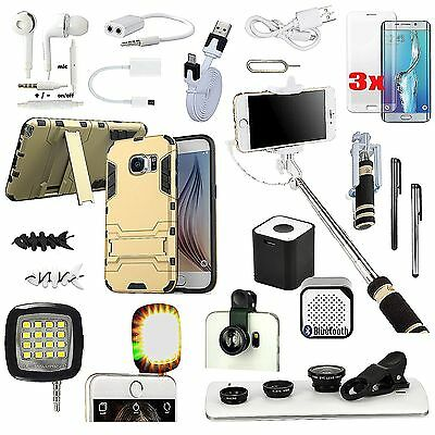 All x Accessory Case Cover Bluetooth Speaker Monopod Lens For Samsung Galaxy S6