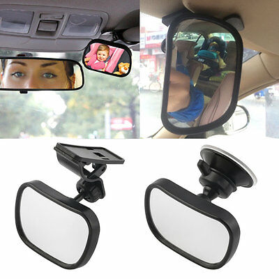 Universal Car Rear Seat View Mirror Baby Child Safety With Clip and Sucker#F
