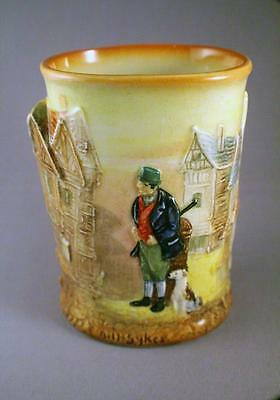 Rare Royal Doulton D5864 Dickens Ware Relief Molded Vase - Bill Sykes - Perfect