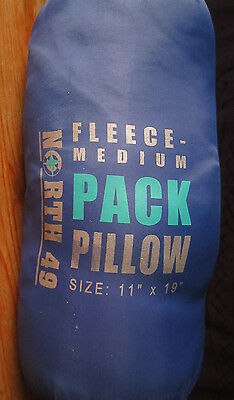 North 49 camping pillows fleece 11x19 light compressible in bag to 10x5