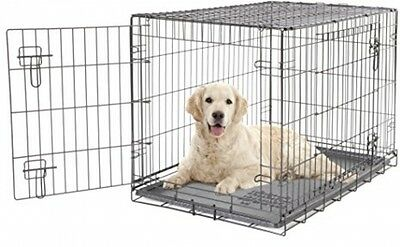 Dogit 2 Door Wire Cage/ Home, 91 x 56 x 62 cm Black large dog crate carrier