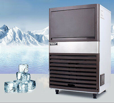 Commercial Ice Maker Auto Clear Cube Ice Making Machine 55kg/24h for Bar 220V Y