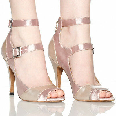 New Dance Shoes Women  Heel 6-10cm Nude Latin Chacha Ballroom Salsa Tango Modern