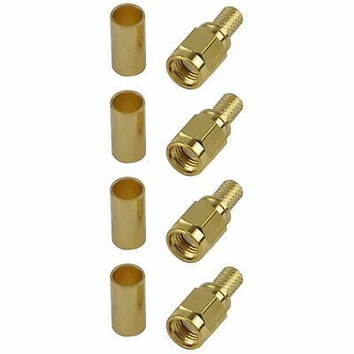 4 Pack of RP SMA Male Crimp Connector - RG58