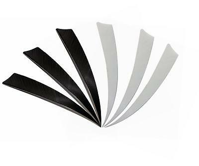 """50x Shield Feathers 5"""" Fletchings Right Wing Archery DIY For Wood Carton Arrows"""
