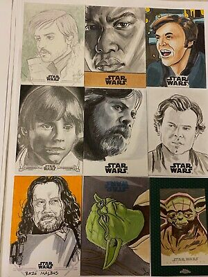 Star Wars Chrome Perspectives JedI v Sith Sketch Card By John Soukup TAKE A LOOK