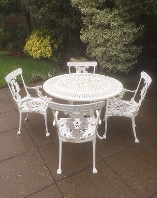 Vintage Pressed Aluminium Garden Table & Chairs