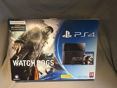 Sony PlayStation 4 PS4 Empty Replacement Box Jet Black 500gm Plus Packaging
