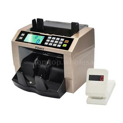 Multi-Currency Counter Money Bill Cash Count LCD Bank Machine UV MG Counterfeit