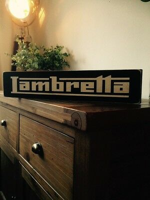 Lambretta Sign Plaque Wood Mod Mods Film Lambretta The Who Old Style Gift