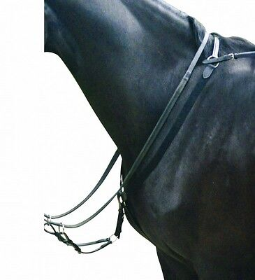 Kincade Elastic Eventing Breastplate And Martingale Brown Full