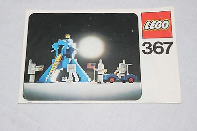 vintage Lego  instructions only FOR SET  # 367-1: Space module with astronauts