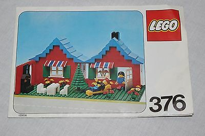 vintage Lego  INSTRUCTIONS ONLY FOR Set # 376-2: House with Garden