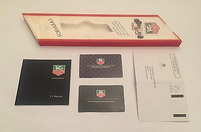 TAG Heuer F1 Formula 1 Box Guarantee Card Instructions Anleitung Vintage Etui