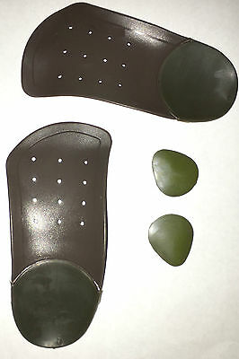High Arch 3/4 Insoles Arch Support Flat Feet Fallen Arches Splayfoot Rigid