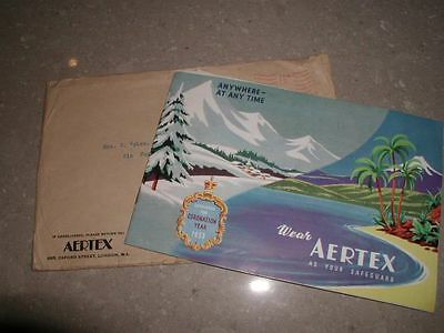 Vintage 1953 Aertex Underwear Catalogue With Additional Leaflets, Mint