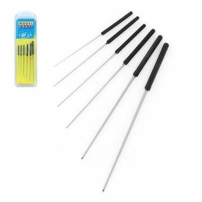 PBR2202 ModelCraft Precision Accessories Set of 6 Smoothing Broaches 0.6-2.0mm