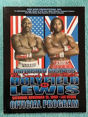 1999 - HOLYFIELD v LEWIS OFFICIAL PROGRAMME - 2ND FIGHT
