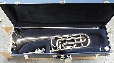 Vincent Bach 'Omega' Bb & F Trombone outfit icluding Case and Mouthpiece.